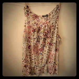 A.n.a women flowerl shirt